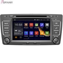 Topnavi-lecteur DVD de voiture Android 6.0   7 pouces Quad Core, pour SKODA OCTAVIA 2013, Autoradio GPS, Navigation, Audio, stéréo
