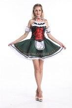 Livraison gratuite chaud en gros chine fournisseur Sexy bavarois bière fille femme de chambre dames Oktoberfest serveuse fantaisie robe femmes Costume