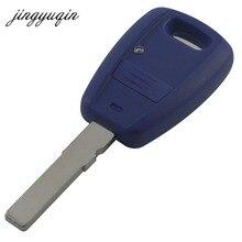 Jingyuqin bleu coquille de porte-clés à distance pour Fiat Punto Doblo Bravo boîtier de remplacement sans logo