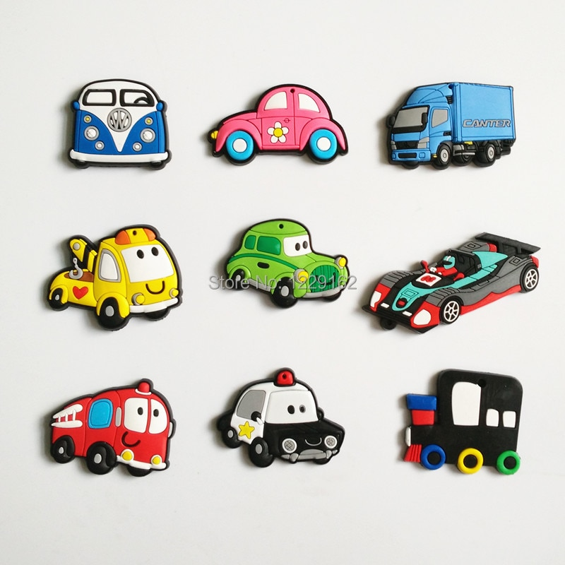 Frete Grátis (9 pçs/set) Moda Carro dos desenhos animados ímãs de geladeira ímãs de geladeira ímã do quadro branco
