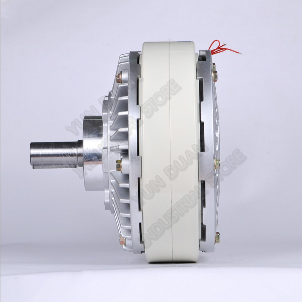 200Nm 20kg DC 24V One Single Shaft 35MM 1000RPM Magnetic Powder Brake Unwinding for Tension Control Bag Printing Dyeing Machine