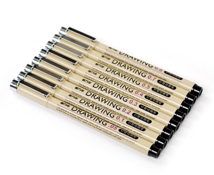 8pcs Sketch Line Drawing Pen Sketch Ink Art Marker Pens For Hook Line Painting Pen 0.05-0.8mm