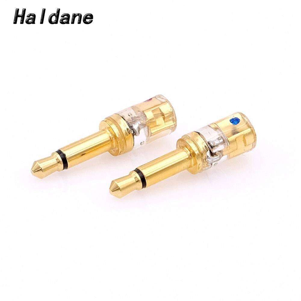 Free Shipping Haldane one pair Headphone Plug for T1P T5P t1 d8000 MDR-Z7 D600 D7100 3.5mm Male to MMCX Female Converter Adapter