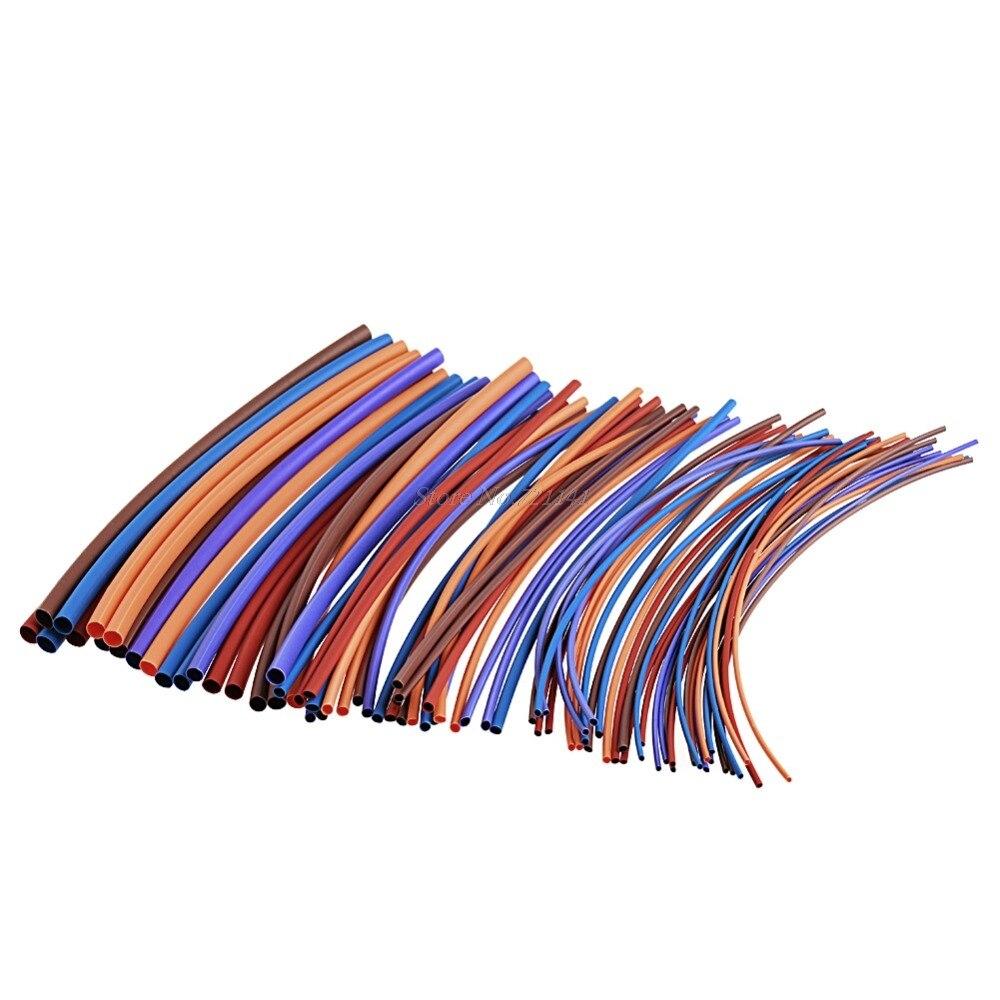 80 uds, poliolefinas, tubo de manguito térmico de 16 M, tubo de Tubo termorretráctil, Cable de envoltura de Cable, materiales de aislamiento, elementos, triangulación de envíos