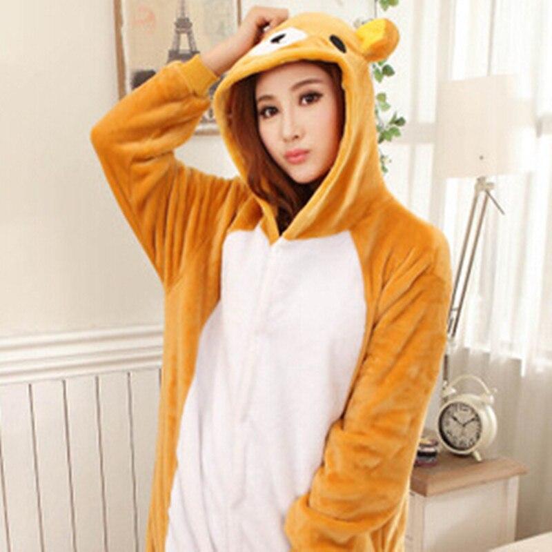 Commercio allingrosso Animale Onesies Unisex Adulto Inverno Rilakkuma Tutina Anime Costume Flanella Pajamas Set Sleepwear