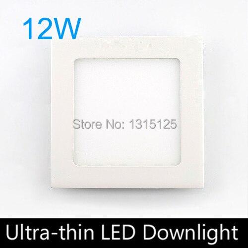 رقيقة جدا design12W LED راحة ضوء السقف ، ساحة LED لوحة ضوء 170 مللي متر ، AC85-265V ، 3 قطعة/الوحدة LED لمبة مصباح + شحن مجاني