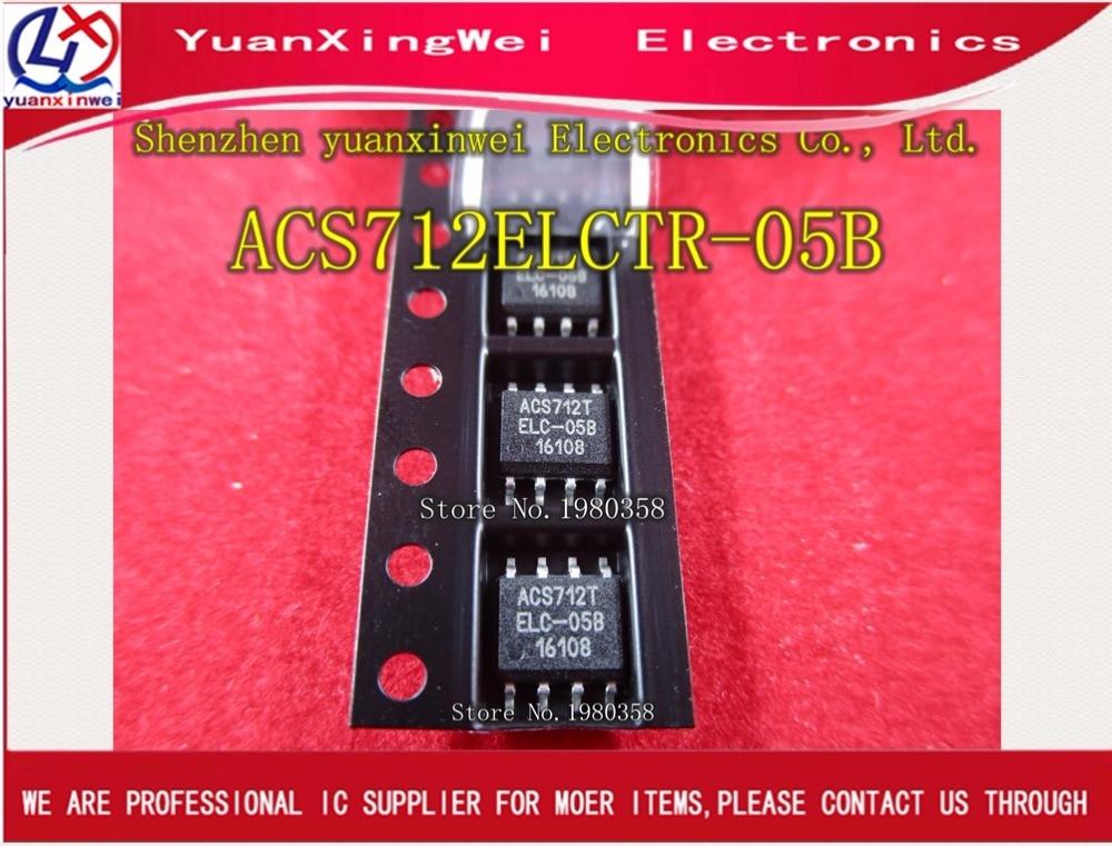 Envío Gratis, 10 unidades/lote, ACS712, ACS712T, ACS712ELCTR, ACS712ELCTR-05B, ACS712TELCTR-05B