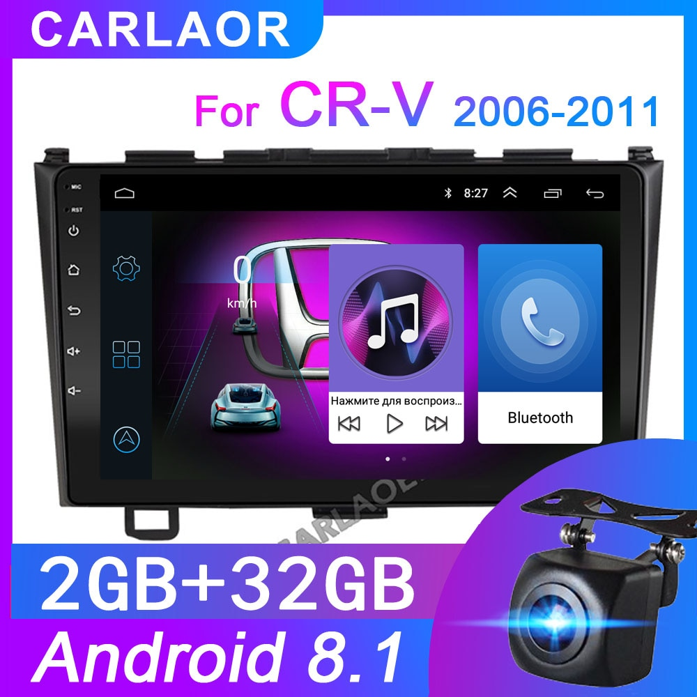 "2g + 32g para honda crv CR-V 2006-2016 rádio do carro reprodutor multimídia 2 din 9 ""android 8.1 auto rádio navegação estéreo wifi navi gps"