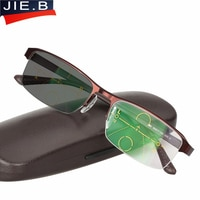 Progressive Multifocal glasses Transition Sunglasses Photochromic Reading Glasses Men Points for Reader Near Far sight diopter