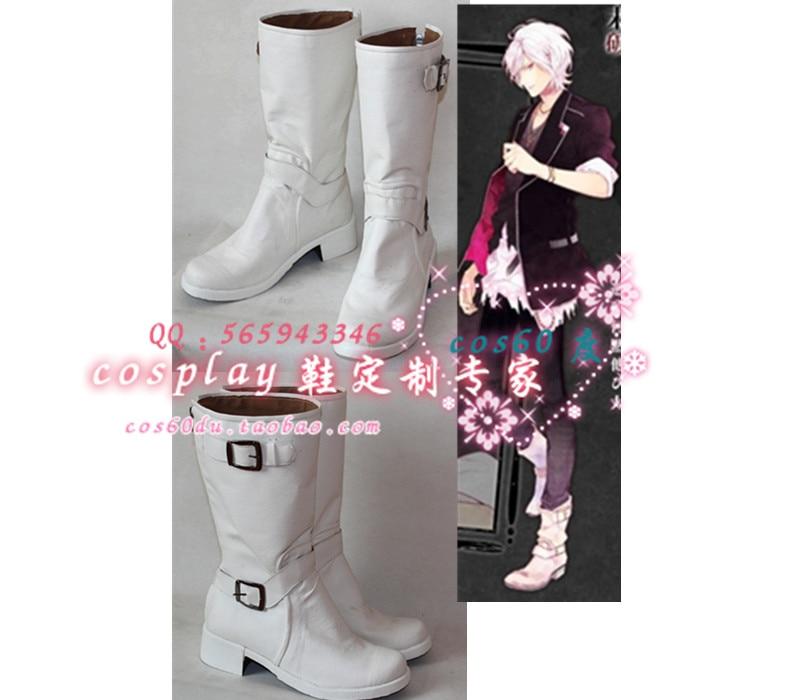 Anime diabolik Lovers Subaru Sakamaki Navidad fiesta de Halloween Cosplay zapatos S008