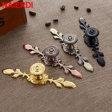 NAIERDI 120MM/170MM Bronze Handles Kitchen Door Cupboard Zinc Alloy European Wardrobe Furniture Drawer Pulls Cabinet Knobs