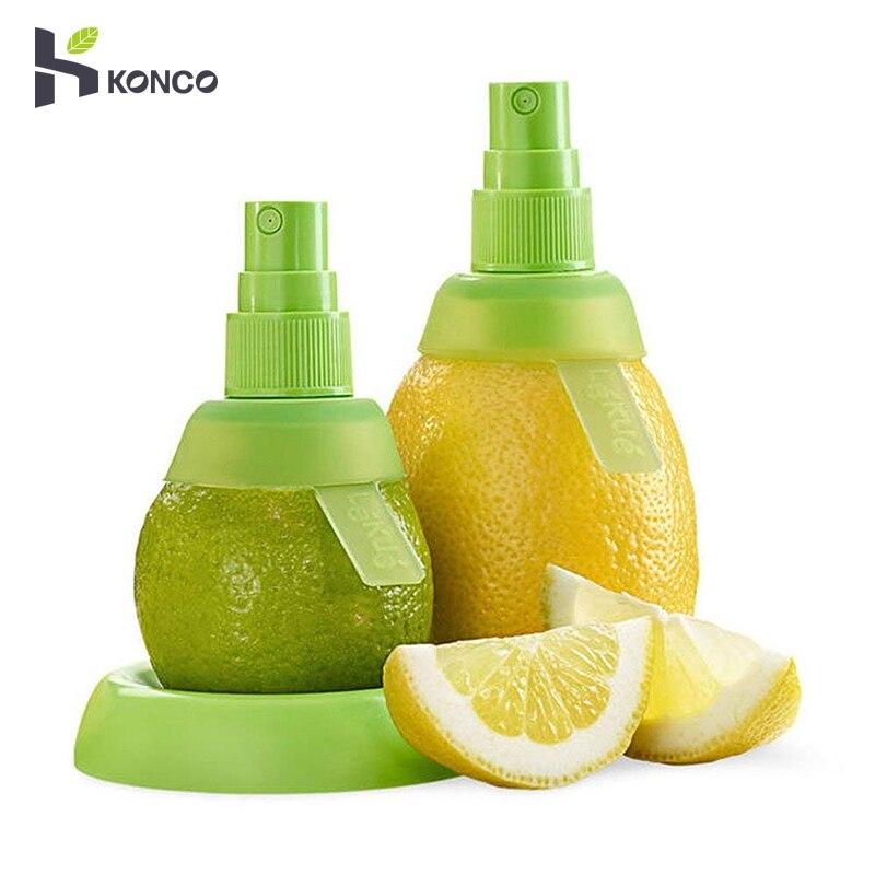 KONCO 2 шт. распылитель лимонного сока, ручной спрей для цитрусовых апельсинового сока для свежих ароматов, соковыжималка для салата, кухонные гаджеты