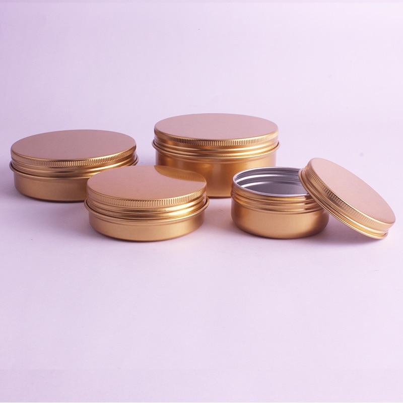 50g 60g de alta qualidade creme recarregável metal alumínio jar estanho parafuso rosca cosméticos bálsamo labial máscara pomada recipientes 50 pçs/lote
