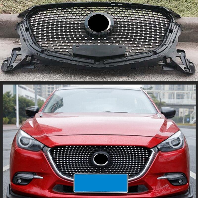 Laque en nid dabeille en ABS   De cuisson, grille de course avant adaptée à Mazda AXELA Mazda 3 2014-2018