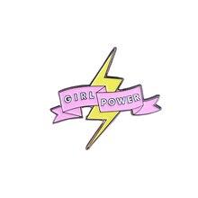Girl Power Feminism Womens grl pwr nasty soft enamel pin brooch