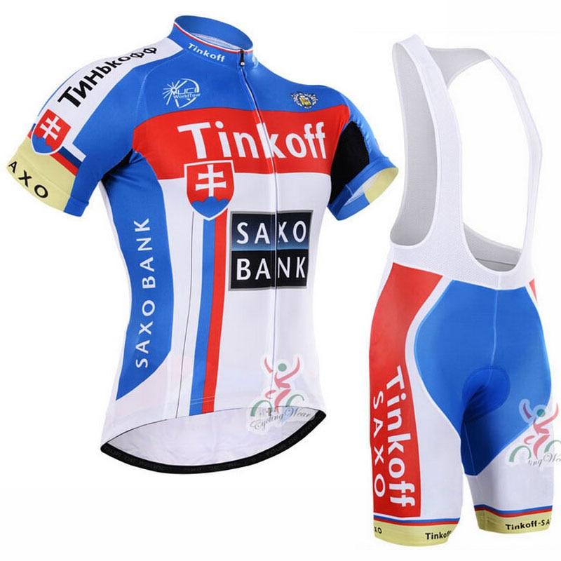 Pro equipe tinkoff saxo banco conjunto camisa de ciclismo bicicleta maillot respirável mtb secagem rápida ropa ciclismo 9d gel almofada