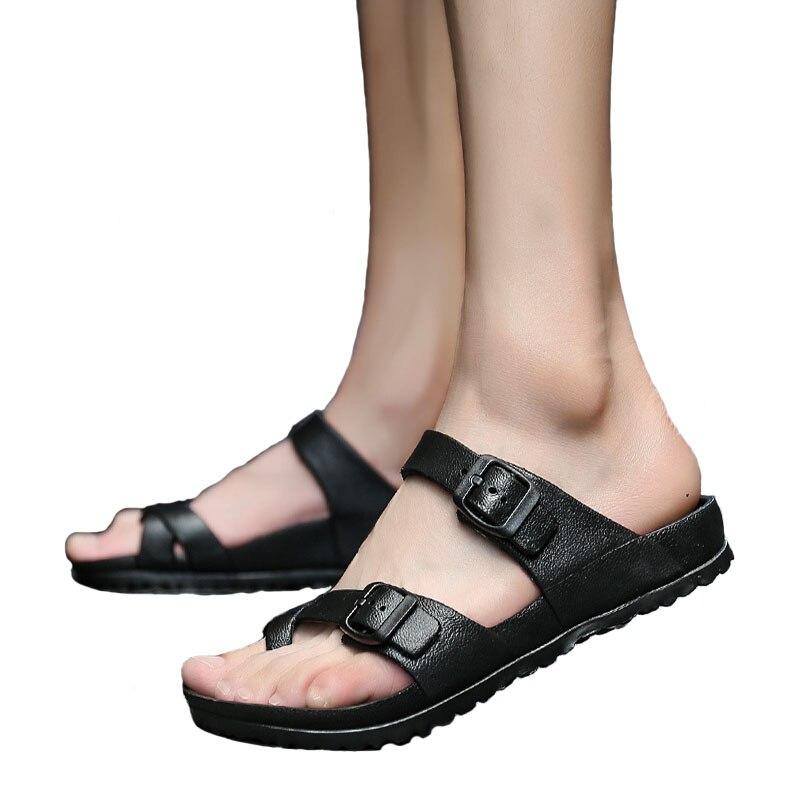 Verão 2018 novo casal legal chinelos chinelos suaves estudantes tendência sapatos de praia chinelos homens