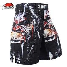 Elastische Mma Shorts Boksen Trunks Angry Woedde Gorilla Sport Fitness Gym Broek Muay Thai Training Shorts Kickboksen Boxe Shorts
