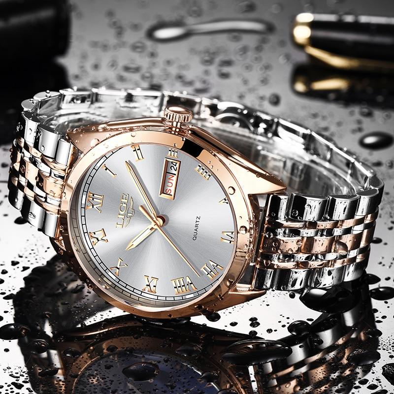 2019 LIGE New Rose Gold Women Watch Business Quartz Watch Ladies Top Brand Luxury Female Wrist Watch Girl Clock Relogio Feminin enlarge