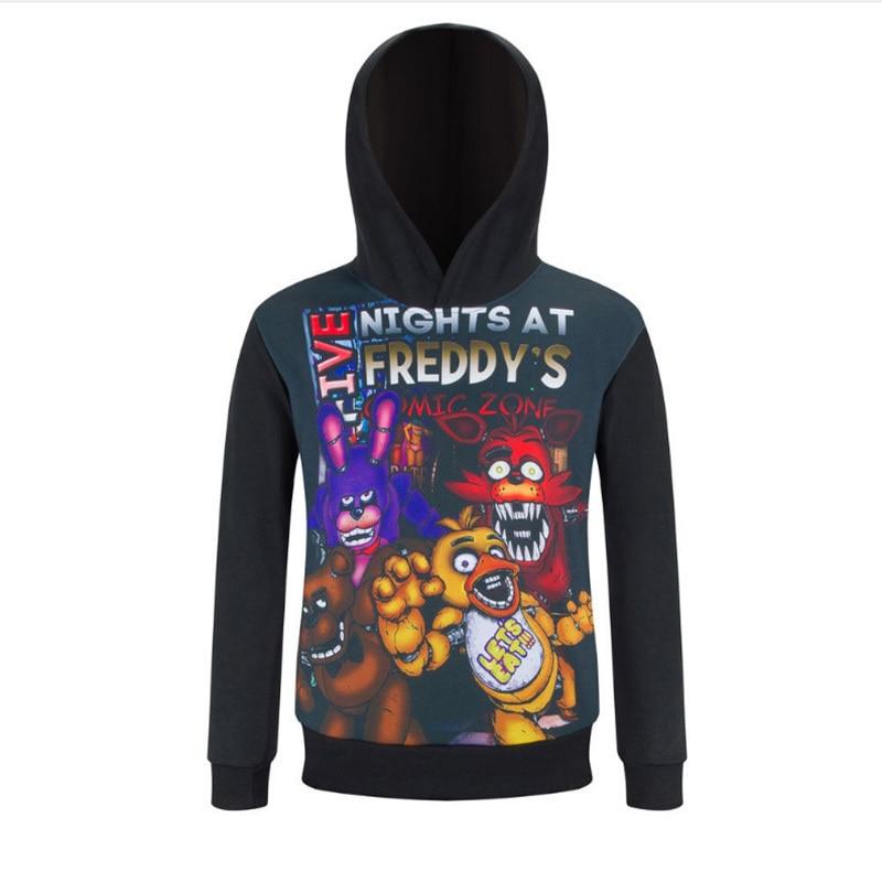 Otoño cinco noches en Freddys mascota disfraz oso Freddys Sudadera con capucha niños deporte Ropa marca niños Camisas manga larga para chicos