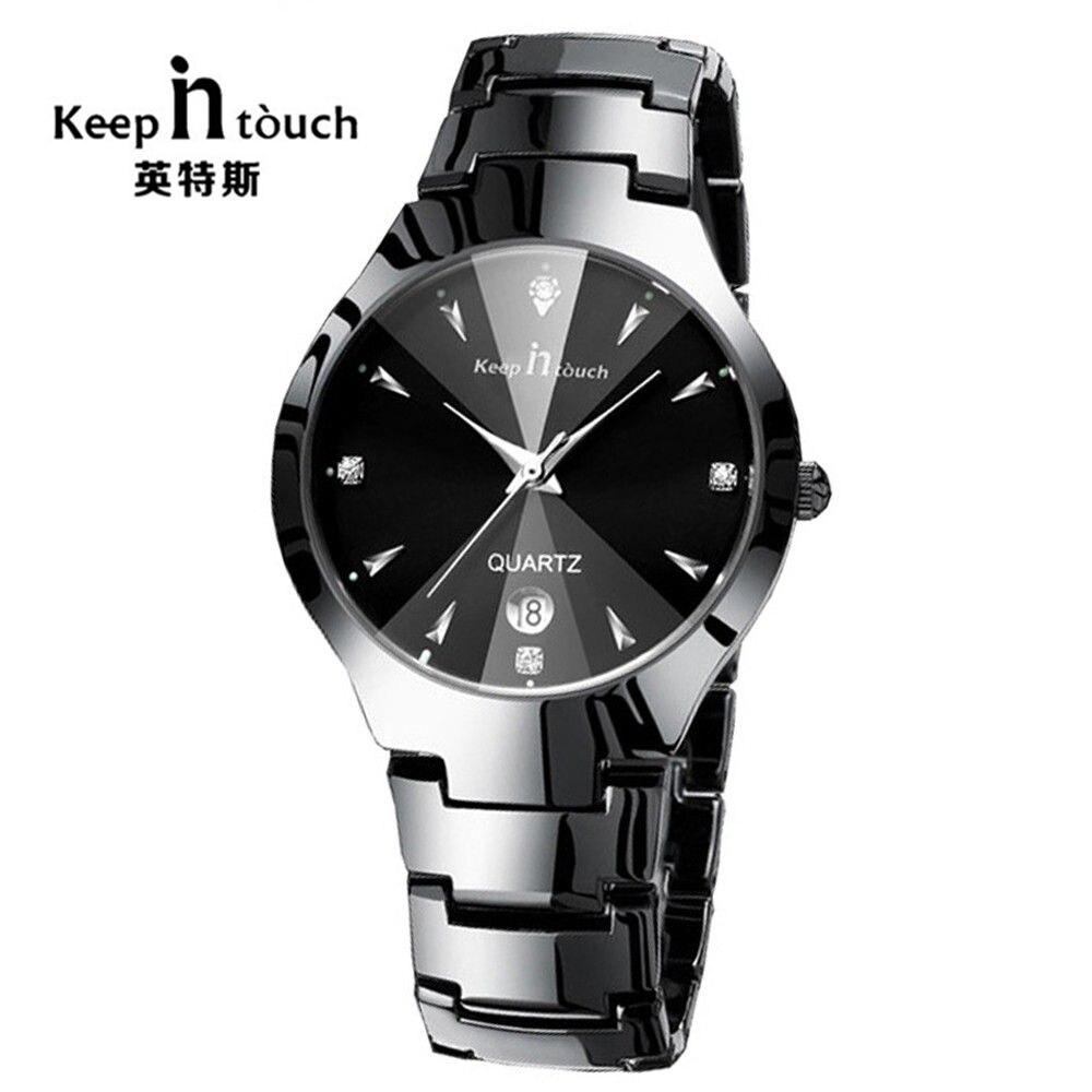 KEEP IN TOUCH Simple Men Watch Stainless Alloy Quartz Men's Watch Luminous Waterproof men clock relogio masculino Dropshipping!