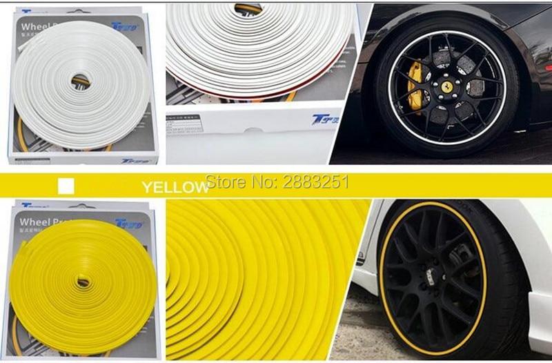 Caliente 8M Estilo de coche adhesivo de cubo de rueda de coche tira decorativa para Volvo xc60 s60 s80 s40 v60 v40 xc90 v70 xc70 v50 accesorios de coche