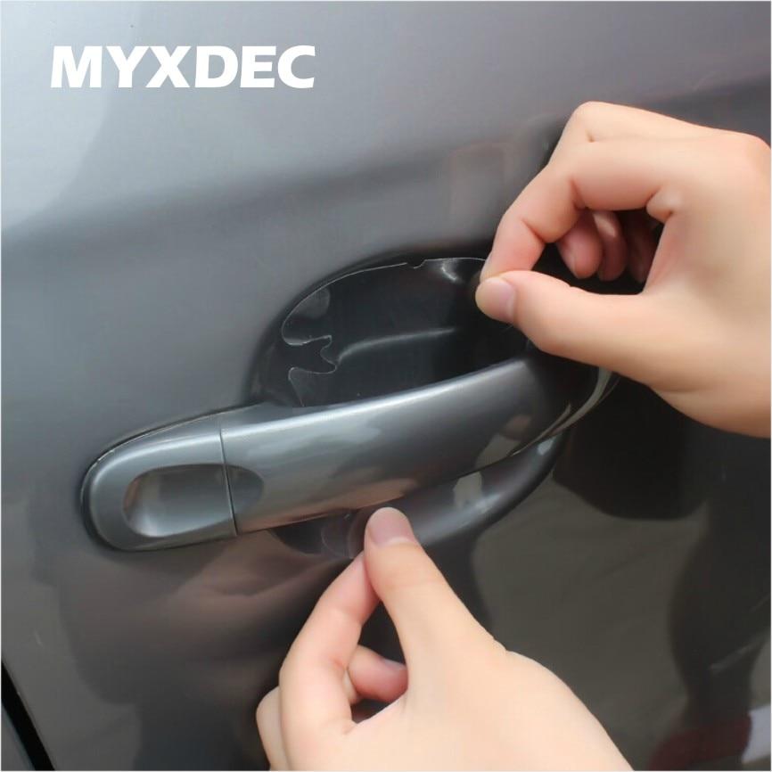 8pcs Universal Invisible Car Door Handle Scratches Automobile Shakes Protective Vinyl Protector Film