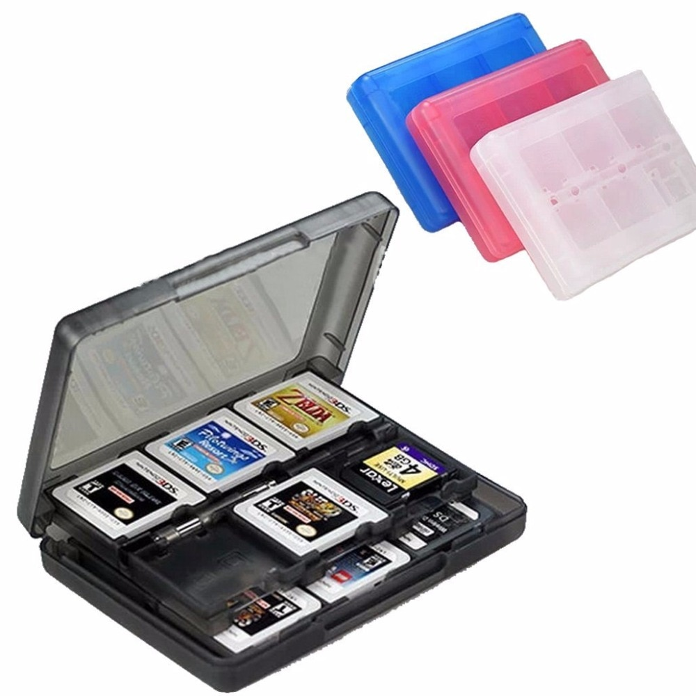 Insten 28-in-1 Game Card Case for Nintendo NEW 3DS / 3DS / DSi / DSi XL / DSi LL / DS / DS Lite Cartridge Storage Solution Box