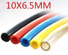 Pneumatic Air Hose PU Tube OD 10MM ID 6.5MM Plastic Flexible Pipe PU 10*65 10x6.5 Piping Tubing Hose PU1065