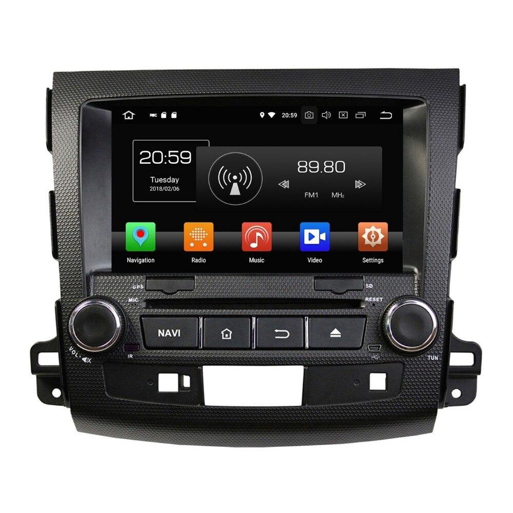 "4GB RAM Android 8.0 Octa Core 2 din 8"" Car DVD GPS for Mitsubishi Outlander 2006-2012 stereo Radio Bluetooth WIFI USB 32GB ROM"