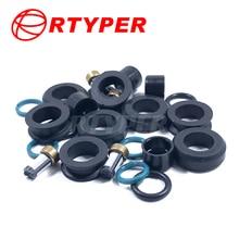 Four Sets Injector Repair Kits Micro Filter Oring Plastic Gasket Pintle Cap 01305 For Toyota Corolla Matrix Suzuki Swift MZ