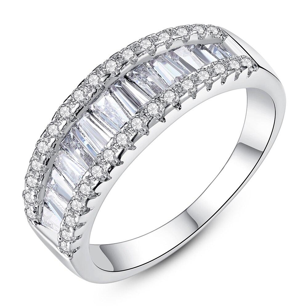 Clásico de lujo de plata maciza 925 anillo de plata esterlina de plata fiesta LGPZMRCF