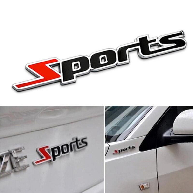 Pegatinas deportivas de Metal 3D para coches para Mitsubishi Asx Lancer 10 9 Outlander EX Pajero SPORT Eclipse Carisma Galant Grandis