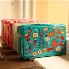 Caja de regalo esmerilada exquisita, latas, tanque de almacenamiento de dulces de Navidad, artículos diversos, caja de lata de jabón hecha a mano