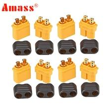 10 pièces Amass XT60h connecteur prise de XT60-T avec gaine boîtier femelle/mâle XT60 prise pour RC Lipo batterie rc voitures fpve drones