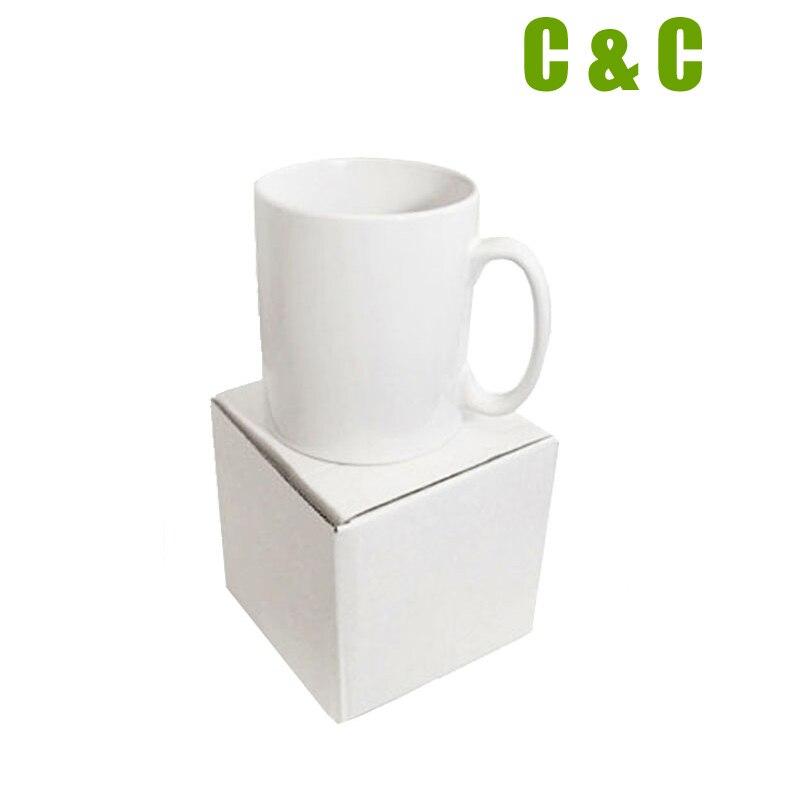 Sublimation mug blank white ceramic without print DIY Photo gift use mug press machine to transfer photo 1008PCS