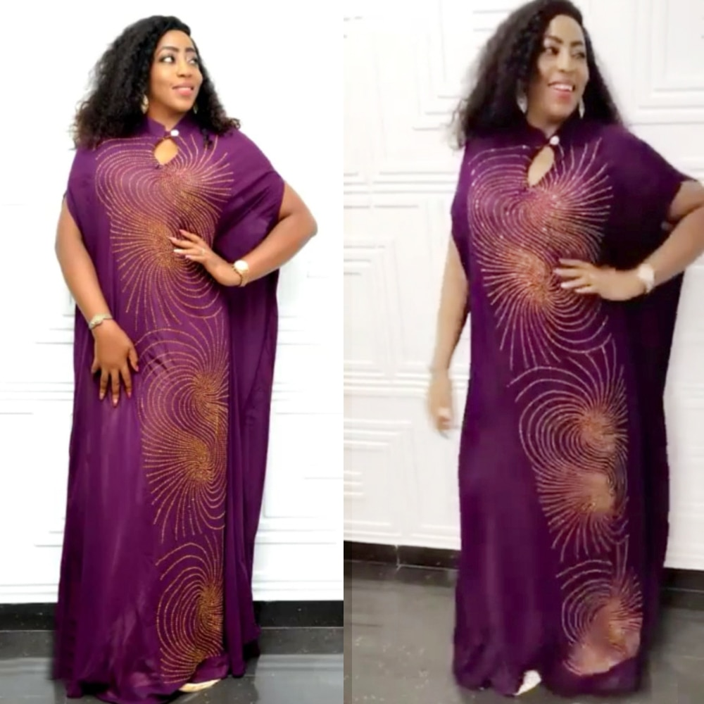 Vestidos negros de Sudáfrica para mujer, Vestido largo de dimonds, ropa de verano para mujer, dashiki rhinestone saty, ropa africana para mujer