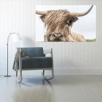 printed wall art highland cow print and poster cattle canvas art paintings for living room decor wall decoration frameless