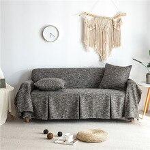غطاء أريكة أريكة بسيطة منشفة القطن و الكتان زلة غطاء أريكة لغرفة المعيشة العالمي Housse دي Canap وسادة أريكة بلون