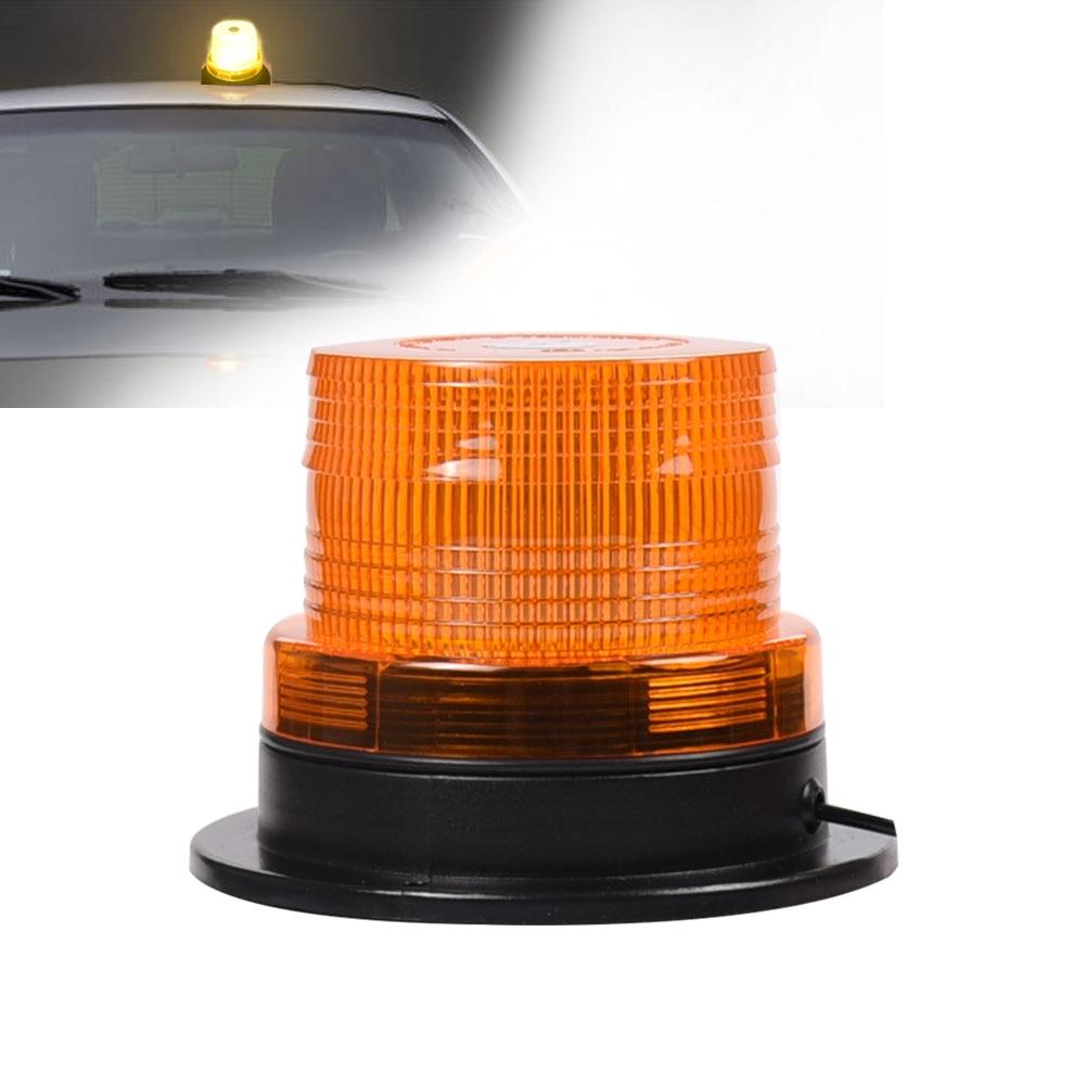 24W 24V ámbar coche LED rotatorio de emergencia luz flash Stobe baliza luminosa para coche camión Universal lámpara de advertencia