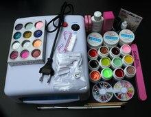Full Set 12 color UV Gel Kit Brush Nail Art Set + 36W Curing UV Lamp kit Dryer Curining Tools SI-76