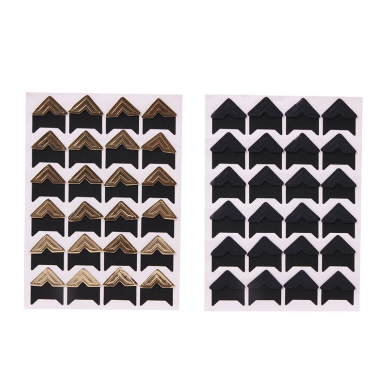 10 листов самоклеящиеся наклейки уголки для скрапбукинга Канцелярские наклейки   