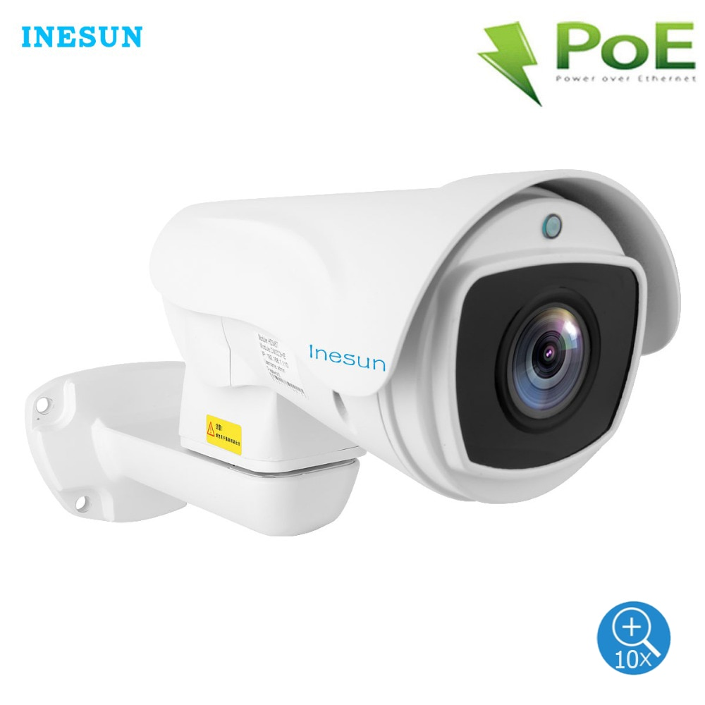 Inesun наружная PoE PTZ IP камера 2MP/5MP супер HD 2560x1920P 10x оптический зум PTZ камера водонепроницаемая 330ft Лазерная ИК Ночное Видение