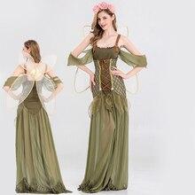 Новая одежда для костюмированной вечеринки для девочек платье на Хэллоуин для взрослых вечерние платья для косплея зеленого леса эльфов