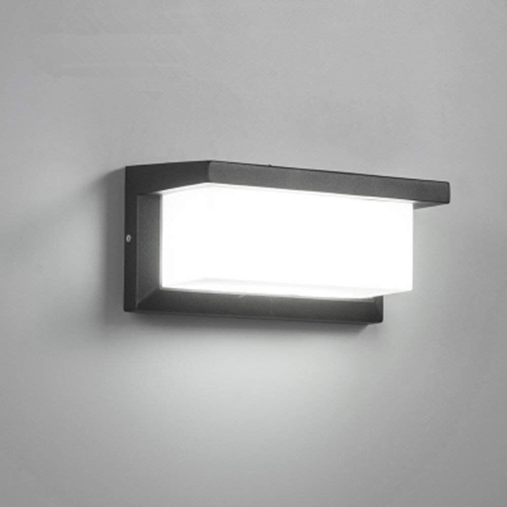 Iluminación Exterior de 18W, aplique de pared moderno, aplique de pared LED cuadrado de Metal, luces para mampara Exterior, accesorio de iluminación impermeable