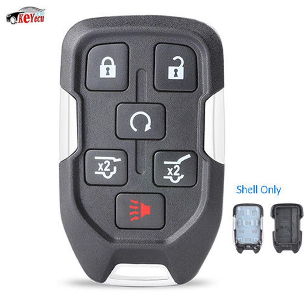 KEYECU дистанционный смарт-брелок чехол 6 кнопок для Chevrolet Suburban Tahoe GMC Yukon XL 2015 kigoauto FCC: HYQ1AA