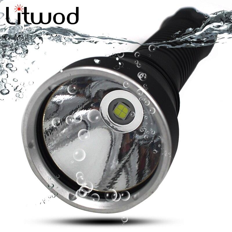 Linterna Led de buceo Litwod Z20D88 5000LM lámpara XHP70 LED EasyWhite atenuación continua bajo el agua 150 m IPX8 antorcha