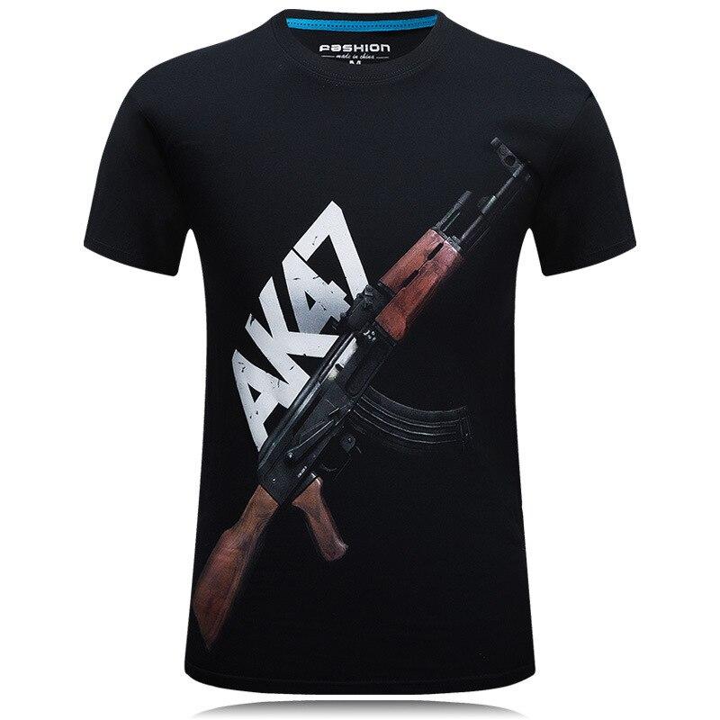 Summer New T Shirt Men 3D Print Firearms Mens T Shirt Casual Short Sleeve Tops Tees Brand Tee Shirts Homme Tops Plus Size 6xl