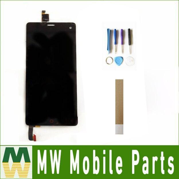 Color Negro 1 PC/lote para ZTE Nubia Z7 mini NX507J pantalla LCD + digitalizador de montaje de pantalla táctil con herramientas y cinta