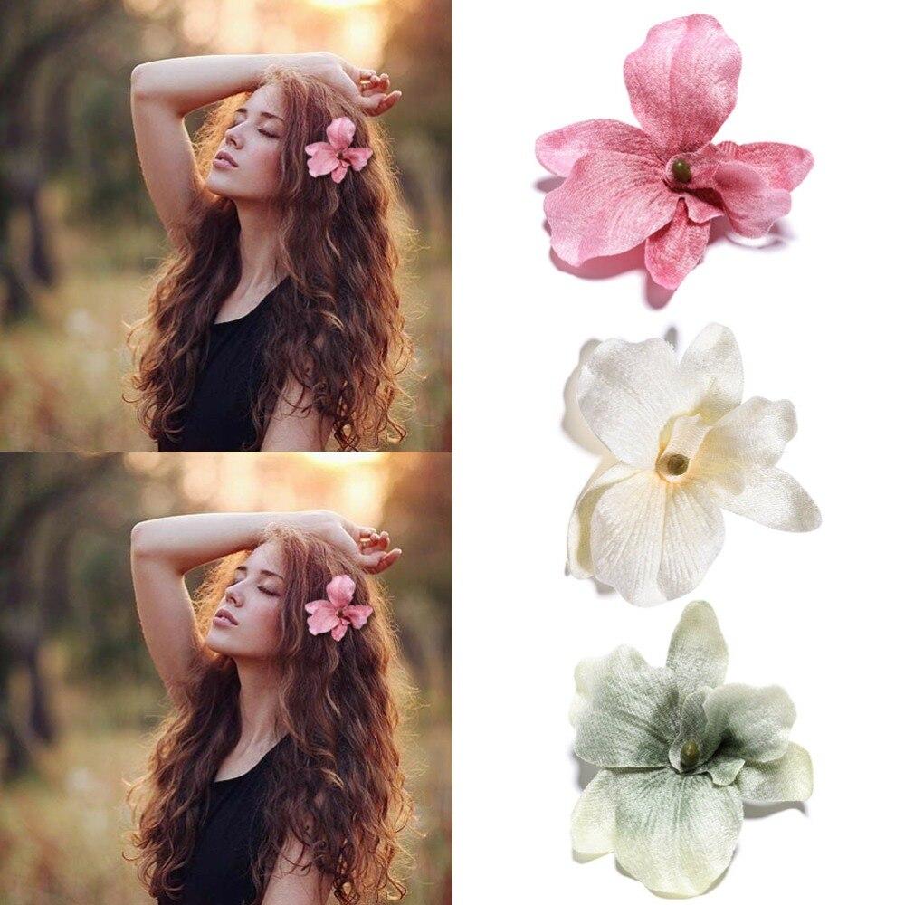 M MSIM 1PC de moda de Corea niñas elegancia pelo Clips gran tela de pelo de las flores para las mujeres de la primavera horquillas señoras pelo accesorios
